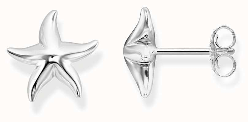 Thomas Sabo Womens Glam And Soul Sterling Silver Starfish Ear Studs H2002-001-21