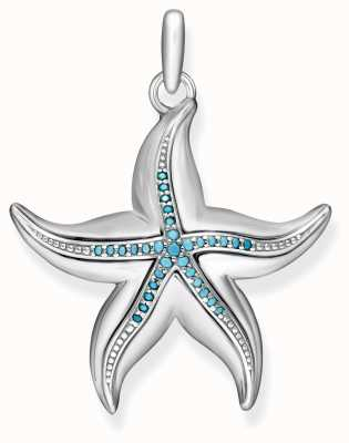 Thomas Sabo Womens Glam And Soul Sterling Silver Starfish Pendant PE806-667-17