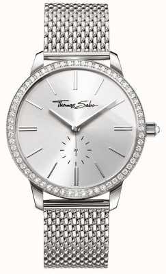 Thomas Sabo Womens Glam And Soul Glam Spirit Watch Silver Mesh Bracelet WA0316-201-201-33