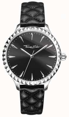 Thomas Sabo Womens Rebel At Heart Watch Black Leather Strap Black Dial WA0321-203-203-38