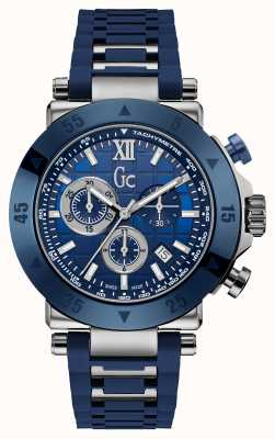 Gc Mens GC-1 Sport Chronograph Blue Silicone Strap X90025G7S