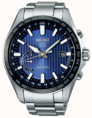 Seiko Astron Solar GPS Blue Dial Stainless Steel Bracelet SSE159J1