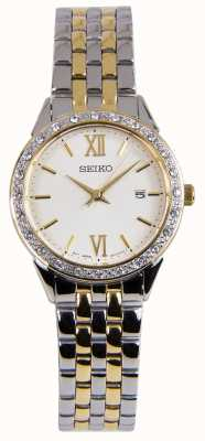 Seiko Ladies Two Tone Silver And Gold Dress Watch SUR690P1