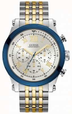 Guess Anchor Mens Sport Chronograph Silver Round W1104G1