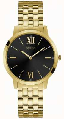 Guess Broker Gents Dress Analogue Gold Round W1072G2