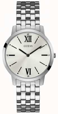 Guess Broker Gents Dress Analogue Silver Round W1072G1