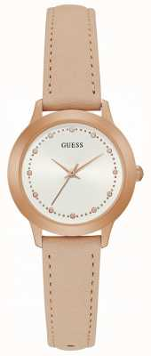 Guess Chelsea Womens Dress Analogue Rose Gold Round W0993L3