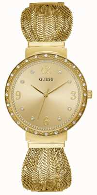Guess Chiffon Womens Dress Analogue Gold Round W1083L2