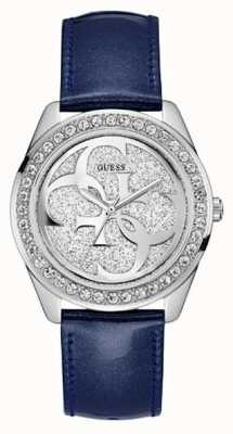 Guess Combined Box Set Womens Trend Analogue Silver Round UBS84301-L