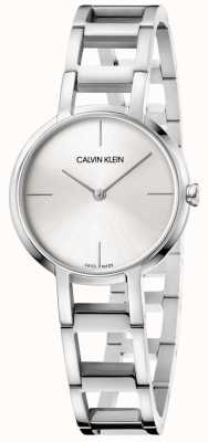 Calvin Klein Ladies Cheers Silver Stainless Steel Watch K8N23146