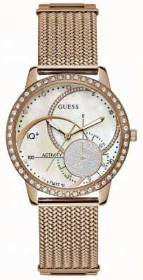 Guess IQ+ Womens Hybrid Smartwatch | Stainless Steel Mesh Strap | C2001L2