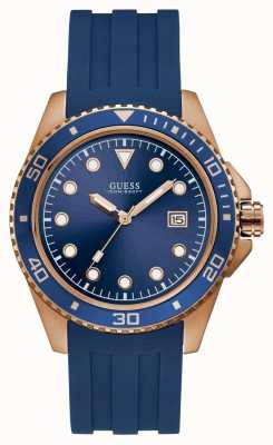 Guess Crew Mens Sport Date Rose Gold Round W1109G3