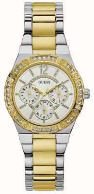 Guess Envy Womens SPort Multi Silver Round W0845L5