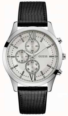 Guess Hudson Mens Dress Chronograph Silver Round W0876G4