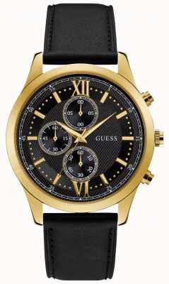 Guess Hudson Mens Dress Chronograph Gold Round W0876G5