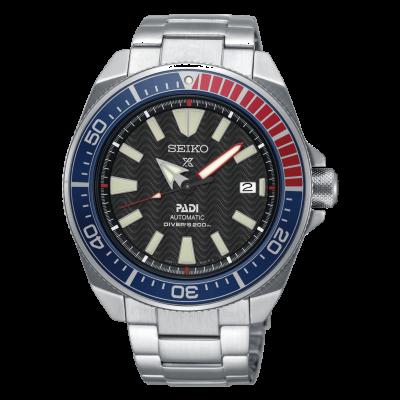 Seiko Mens Stainless Steel Padi Prospex Automatic Watch Black Dial SRPB99K1