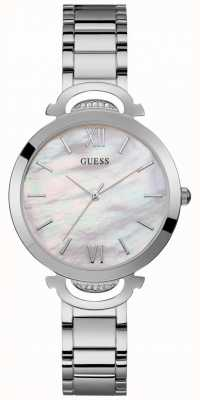 Guess Opal Womens Dress Analogue Silver Round W1090L1
