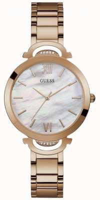 Guess Opal Womens Dress Analogue Rose Gold Round W1090L2