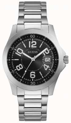 Guess Ryder Mens Trend Date Silver Round W1103G1