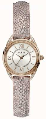 Guess Whisper Womens Dress Analogue Rose Gold Round W1085L1