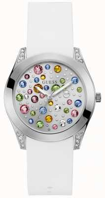 Guess Wonderlust Womens Trend Analogue Silver Round W1059L1