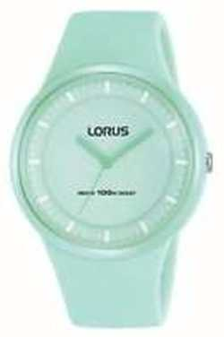 Lorus Ladies Mint Green Silicon Strap Mint Green Dial RRX31FX9
