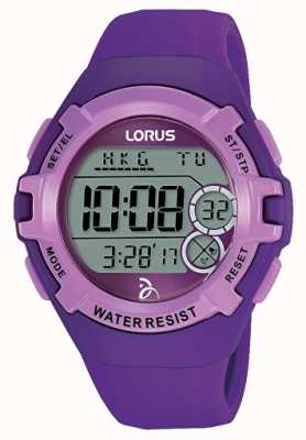 Lorus Kids Djokovic Foundation Digital Watch Purple Strap And Dial R2395LX9