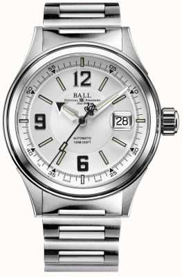 Ball Watch Company Fireman Racer Automatic Stainless Steel Bracelet White Dial NM2088C-S2J-WHBK