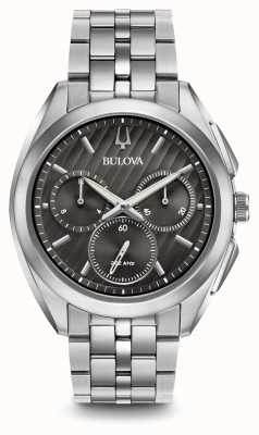 Bulova | Curv | Mens | Chronograph | Stainless Steel | 96A186