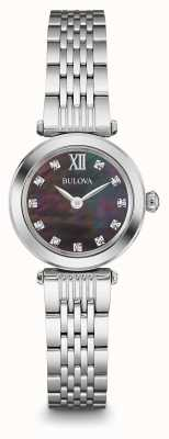 Bulova Womens Diamond Stainless Steel Quartz 96P169