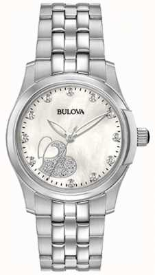 Bulova Womens Classic Heart Stainless Steel 96P182