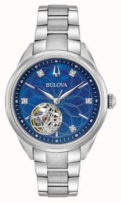 Bulova Diamond Stainless Steel Womens Automatic 96P191