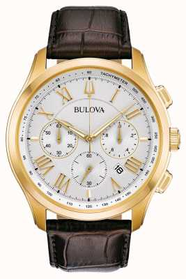 Bulova Men's Classic Brown Leather Strap 97B169