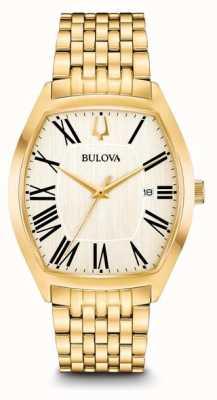 Bulova Mens Ambassador Gold Plated Stainless Steel 97B174