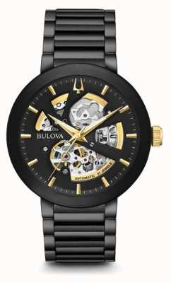 Bulova Mens Modern Automatic Black Ion-Plated Stainless Steel 98A203
