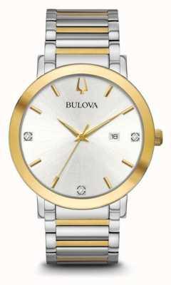Bulova Mens Two Tone Bracelet 98D151