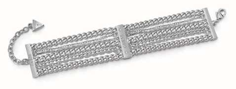 Guess Ladies Silver Chain Waterfall Bracelet UBB85115-L