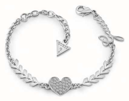 Guess Ladies Silver Plated Multi Cupid Bracelet UBB85085-L