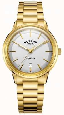 Rotary Mens Avenger Watch Gold Tone Barcelet GB05343/02