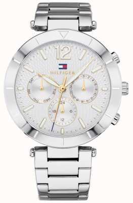 6804440441c Tommy Hilfiger Womens Chloe Watch Day Date Silver Tone Bracelet 1781877