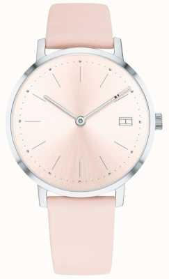 Tommy Hilfiger Womens Pippa Watch Pale Pink Leather Strap 1781925