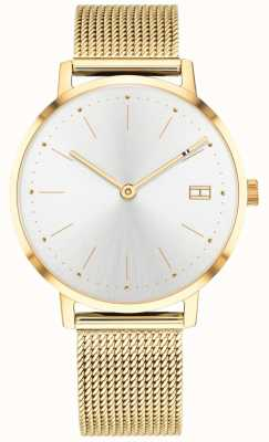 Tommy Hilfiger Women's Pippa Watch Gold Tone Mesh Strap 1781927
