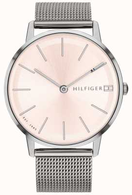 Tommy Hilfiger Womens Pippa Watch Silver Tone Mesh Strap 1781935