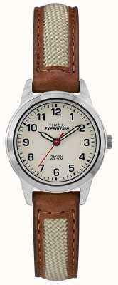 Timex Field Mini Tan Leather Natural Dial TW4B11900