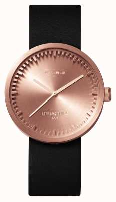 Leff Amsterdam D38 Rose Gold Case Black Leather Strap LT71031