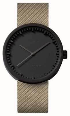 Leff Amsterdam Tube Watch D42 Black Case Sand Cordura Strap LT72013