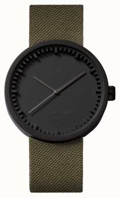 Leff Amsterdam Tube Watch D42 Black Case Green Cordura Strap LT72014