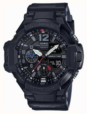 Casio G-Shock Gravitymaster Black Resin Strap GA-1100-1A1ER