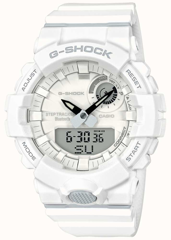 723f57ceac2 Casio G-Shock Bluetooth Fitness Step Tracker White Strap GBA-800 ...