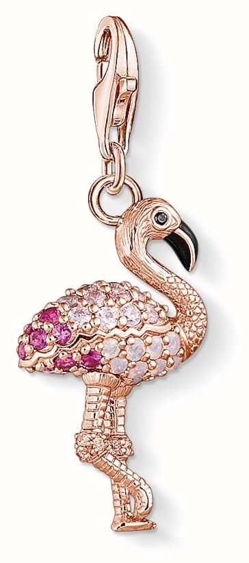 thomas sabo flamingo rose gold charm 1518 384 9 first class watches. Black Bedroom Furniture Sets. Home Design Ideas
